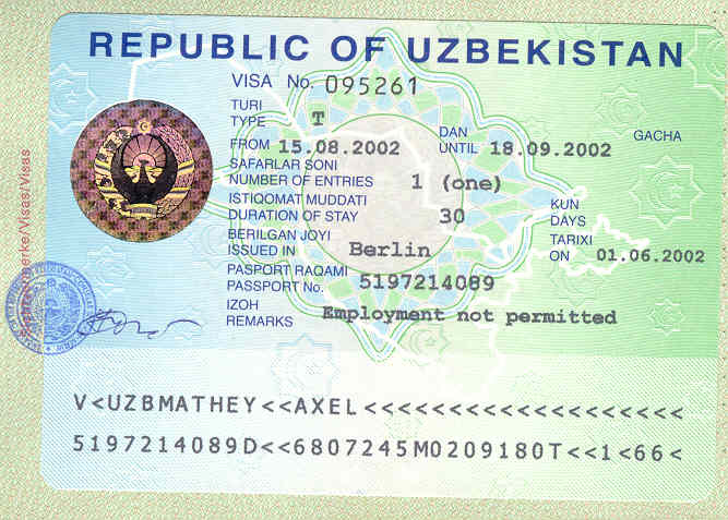 The visa run uzbekistan visa stopboris Gallery